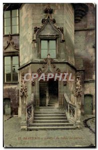 Old Postcard Staircase Beauvais Courthouse