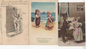Child Smoking Pipe Toy Doll Doctor Cupid 3x Old Postcard s