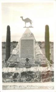 1940s Frasher Hi Jolly's Tomb Highway 60 Salome Arizona RPPC real photo 9280