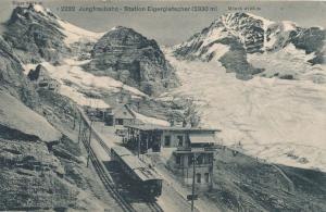 Switzerland - Train at Station on Jungfrau Railway to the Top of Europe - DB