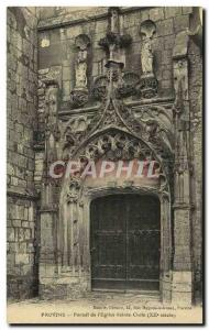 Old Postcard Provins Portal From & # 39Eglise Holy Cross