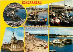 Postcard Modern Concarneau Ville Close the port Boats