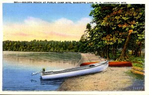 NY - Adirondacks, Raquette Lake, Golden Beach