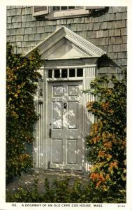 MA - Brewster, Cape Cod. Old Dillingham House Doorway