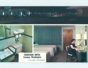Unused Pre-1980 MOTEL SCENE Tacoma Washington WA G6999