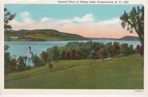 New York Cooperstown Otsego Lake General View 1952 Curteich