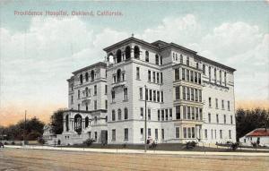 Oakland California~Providence Hospital~Ladies by Window~Men on Sidewalk~1910 PC