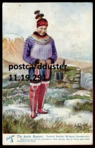 291 - GREENLAND 1910s Signed North Pole. Eskimo Woman. Arctic by Tuck.