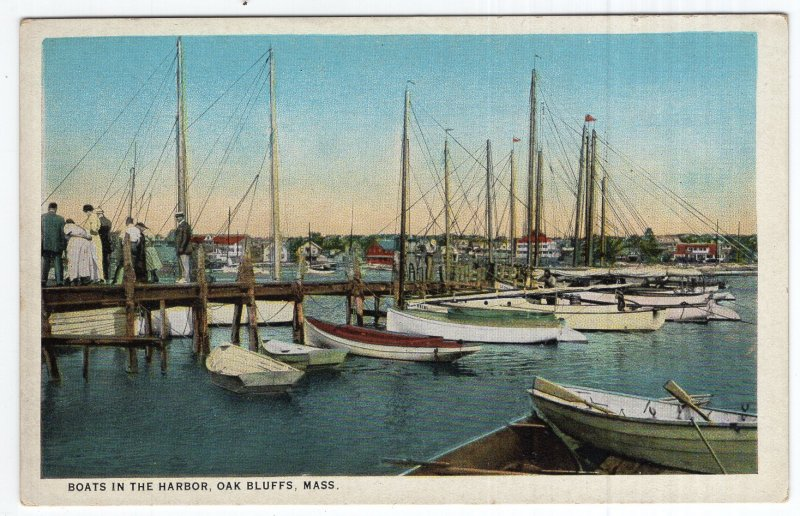 Oak Bluffs, Mass, Boats In The Harbor