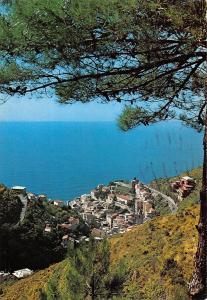 Italy Le Cinque Terre Riomaggiore Panorama General view