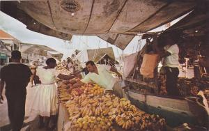 CURACAO; Floating Market, Downtown Willemstad with schooners carrying fruit & ve