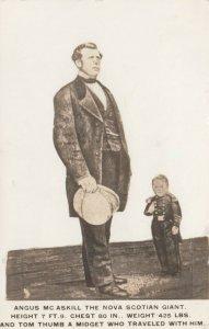 RP: Angus McAskill The Nova Scotian Giant & Tom Thumb , 1927