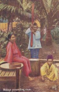 Malaysia Malay Women Pounding Rice Tucks