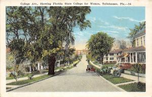 A24/ Tallahassee Florida Fl Postcard c1920 College Avenue State College Women