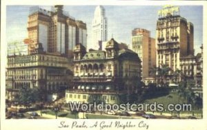 Good Neighbor City Sao Paulo Brazil Postal Used Unknown
