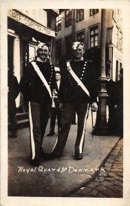 G62/ Foreign RPPC Postcard Denmark Royal Guards Uniform c1910