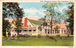 11883  NC Greensboro 1940's   Greensboro Country Club Golf