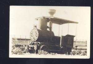 RPPC OREGON PONY RAILROAD TRAIN ENGINE VINTAGE REAL PHOTO POSTCARD PORTLAND