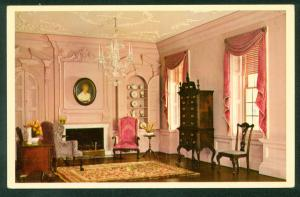 Drawing Room Miniature House Interior Mount Pleasant Philadelphia PA Postcard