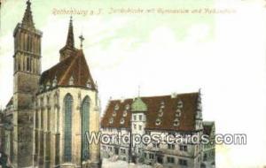 Rothenbrug o T Germany, Deutschland Postcard Jacobskirche mit Gymnasium un Vo...