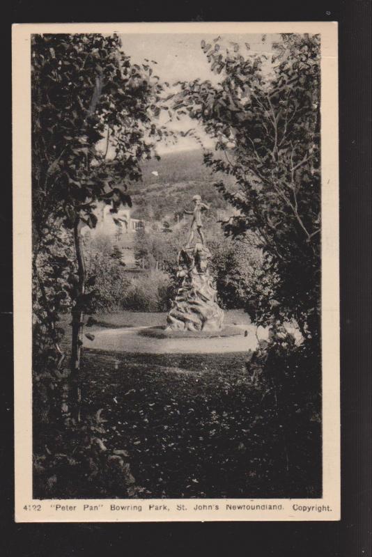 NEWFOUNDLAND - Statue Of Peter Pan Bowering Park - 1950s - Unused