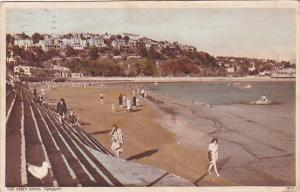 England Torquay Tor Abbey Sands Beach Scene 1945