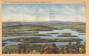 Lake Winnipesaukee From Red Hill Center Harbor New Hampshire 1951