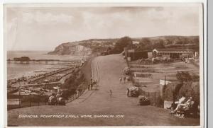 Hampshire; Dunnose Point From Small Hope IOW H8 RP PPC, 1948 Sandown PMK