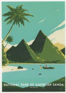 National Park Of American Samoa Sacred Earth Boat USA Postcard