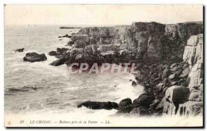 Old Postcard Croisic Rocks near the Pointe