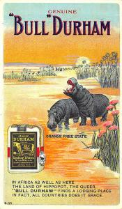 Bull Durham Tobacco Advertising Set Orange Free State B-30 Postcard