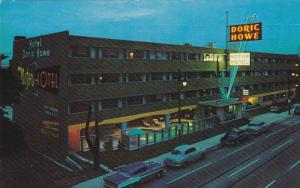 Aerial view,  The Doric Howe Motor Hotel located in downtown Vancouver,  B.C....