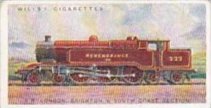 Wills Cigarette Card Railway Engines No 21 Southern Railway London Section