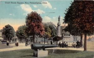 E92/ New Philadelphia Ohio Postcard Tuscarawas 1912 Court House Square 1