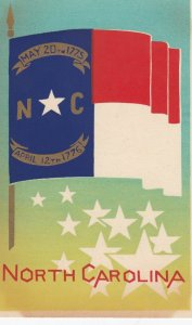 NORTH CAROLINA , State Flag , 40-50s ; Serigraph