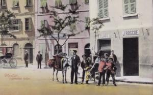 Vegetables Seller Gibraltar Old Postcard
