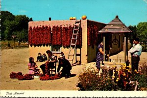 New Mexico Stringing Chili In The Southwest 1974