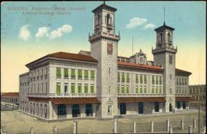 cuba, HAVANA HABANA, Estacion Central, Railway Station (1913)
