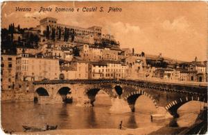 CPA VERONA Ponte Romano e Castel S.Pietro . ITALY (493445)