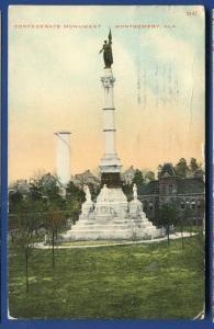 Confederate Monument Montgomery Alabama al State Capitol postcard #7