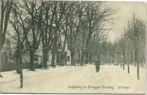 denmark, DRAGØR, Indgang till Anlæg, Vinter (1910s)