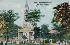 Connecticut New Haven Center Church On The Green and Band Stand