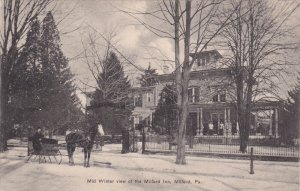 MILFORD, Pennsylvania; Mid Winter view of the Millford Inn, PU-1908