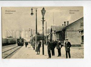 299578 RUSSIA Petersburg Kirpichnoye Perkjarvi railway Station TRAIN Renaissance
