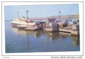 AZERBAIJAN, 50-60s   Seaport View of Ferry boat landing