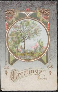 US Mint Greeting Card, embossed - old.  Just Wow.