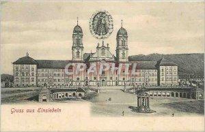 Old Postcard SWITZERLAND-GRUSS AUS EINSIEDEN