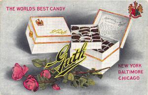 Heyer's Drug Co. Houston TX Guth Chocolates Bon Bons Postcard