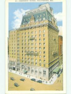 Unused W-Border EMERSON HOTEL Baltimore Maryland MD hr9165