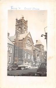 E29/ New Lexington Ohio Real Photo RPPC Postcard c1940s Court House Building 2